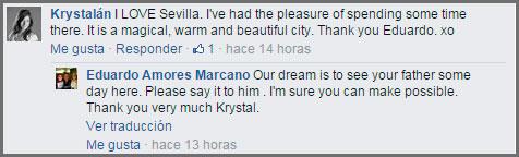 Krystal le gusta Sevilla